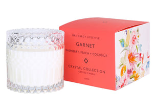 Candle Garnet - Raspberry, Peach + Coconut