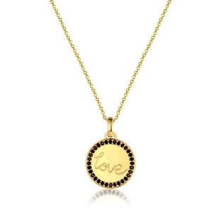 Love Disc Necklace - Gold