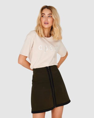Embroidered Tee - Apero Beige