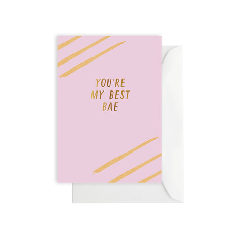 You're My Best Bae Card