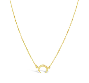Mini Moon Necklace - Gold