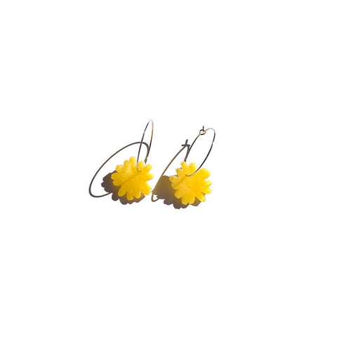 Margarita flower hoop yellow | nano