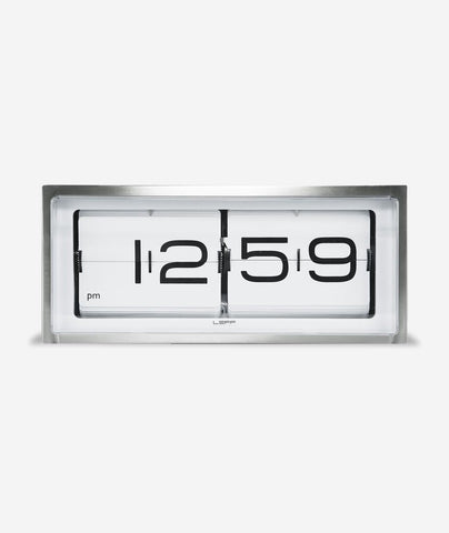 Brick Wall/Desk Clock, Stainless Steel