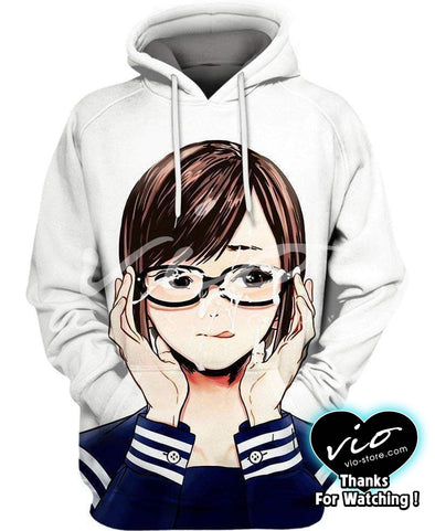 Ahegao-Hoodie-Shirt-Clothing-Jacket-Zip-Up-Girl Brown Hair-VIO STORE