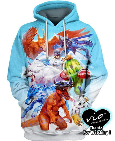 Digimon Adventure-Hoodie-Shirt-Clothing-Jacket-Zip-Up-Digimon Real Life-VIO STORE