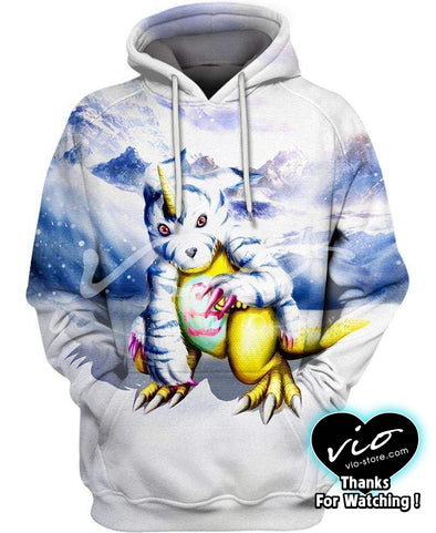 Digimon Adventure-Hoodie-Shirt-Clothing-Jacket-Zip-Up-Gabumon in an Ice Mountain-VIO STORE