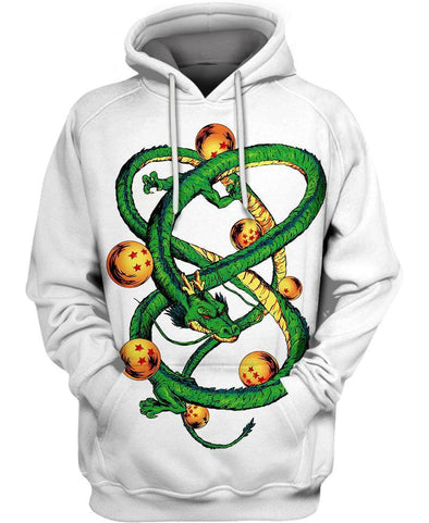 Dragon Ball Z-Hoodie-Shirt-Clothing-Jacket-Zip-Up-Shenron With Balls-VIO STORE