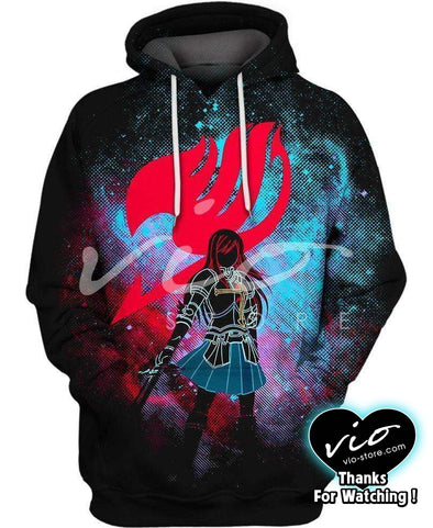 Fairy Tail-Hoodie-Shirt-Clothing-Jacket-Zip-Up-Erza Scarlet-VIO STORE