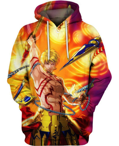 Fate Stay Night-Hoodie-Shirt-Clothing-Jacket-Zip-Up-Gilgamesh Fate-VIO STORE