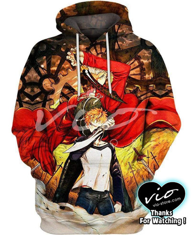 Fate Stay Night-Hoodie-Shirt-Clothing-Jacket-Zip-Up-Heroic Spirit Emiya-VIO STORE