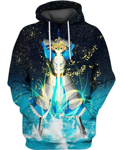 Fate Stay Night-Hoodie-Shirt-Clothing-Jacket-Zip-Up-Saber Guardian-VIO STORE