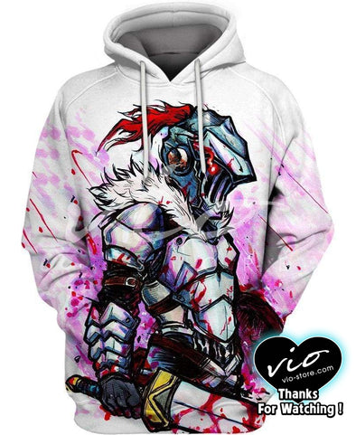 Goblin Slayer-Hoodie-Shirt-Clothing-Jacket-Zip-Up-Suck On It Losers-VIO STORE
