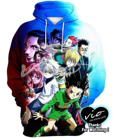 Hunter x Hunter-Hoodie-Shirt-Clothing-Jacket-Zip-Up-Hunters-VIO STORE