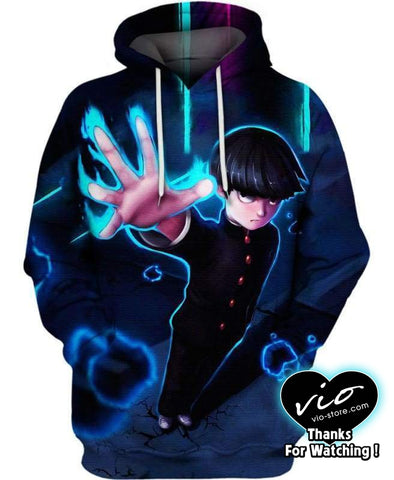 Mob Psycho 100-Hoodie-Shirt-Clothing-Jacket-Zip-Up-Mob-VIO STORE