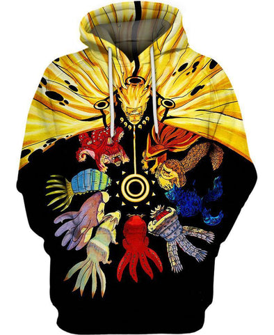 Naruto-Hoodie-Shirt-Clothing-Jacket-Zip-Up-The Tailed Beasts-VIO STORE