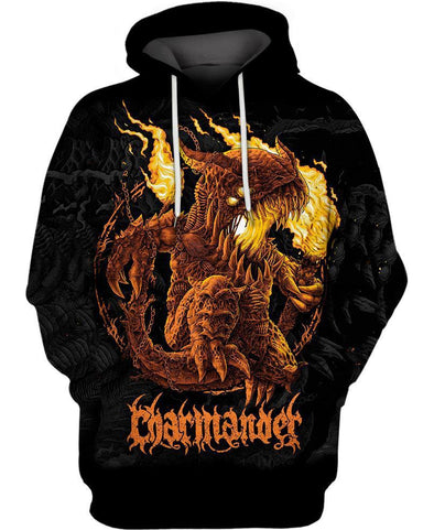Pokemon-Hoodie-Shirt-Clothing-Jacket-Zip-Up-Demonic Charmander-VIO STORE