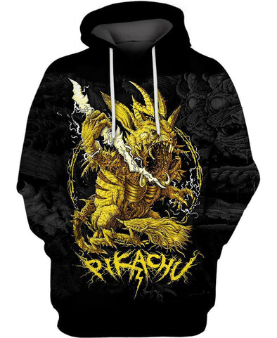 Pokemon-Hoodie-Shirt-Clothing-Jacket-Zip-Up-Demonic Pikachu-VIO STORE