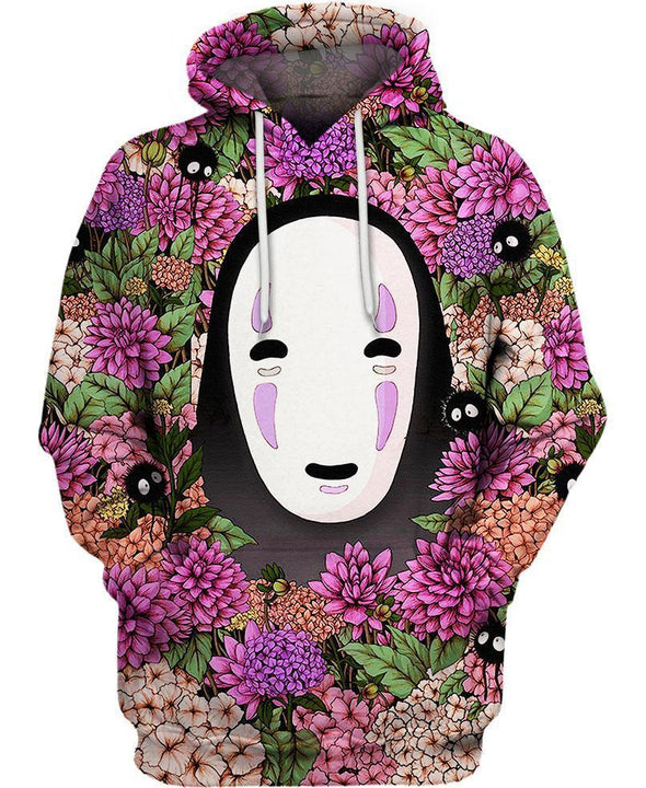 Studio Ghibli-Hoodie-Shirt-Clothing-Jacket-Zip-Up-Lost In Flower Garden-VIO STORE