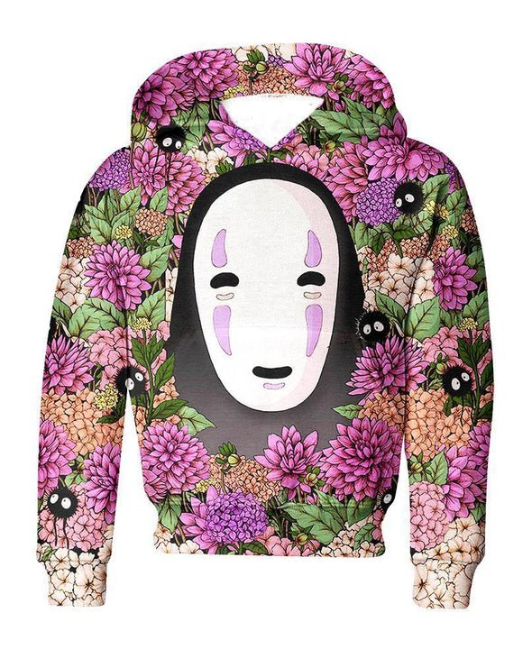 Studio Ghibli-Kid Hoodie-Shirt-Clothing-Jacket-Zip-Up-Lost In Flower Garden-VIO STORE