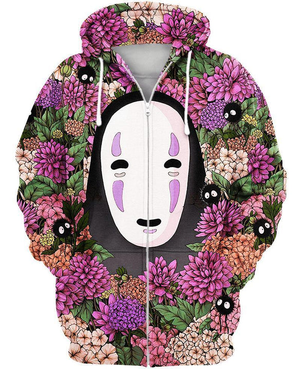 Studio Ghibli-Zip-Shirt-Clothing-Jacket-Zip-Up-Lost In Flower Garden-VIO STORE