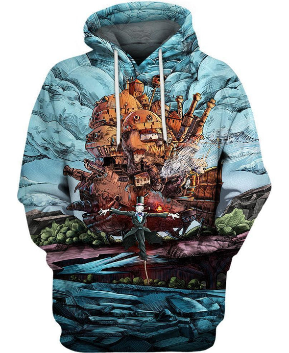 Studio Ghibli-Hoodie-Shirt-Clothing-Jacket-Zip-Up-Magical Castle-VIO STORE