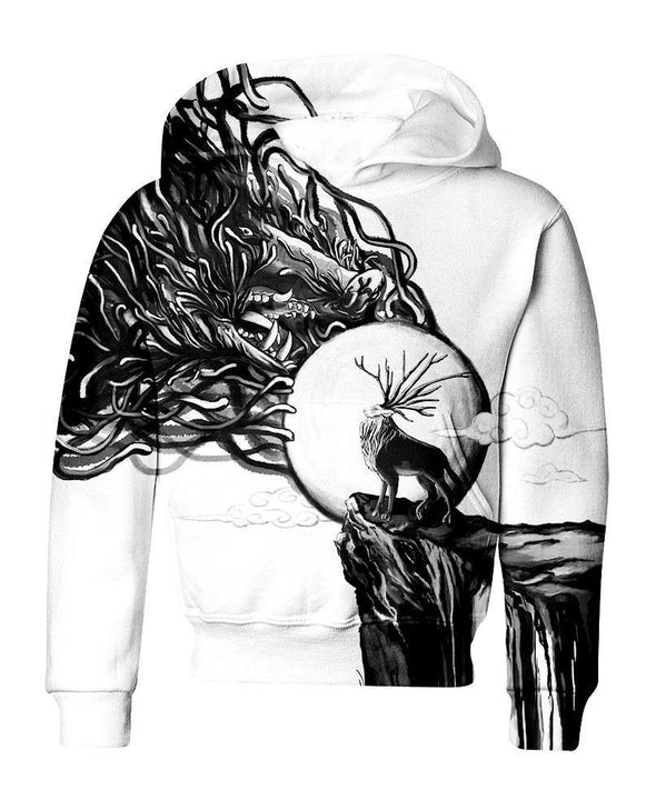Studio Ghibli-Kid Hoodie-Shirt-Clothing-Jacket-Zip-Up-A God Of Life And Death-VIO STORE