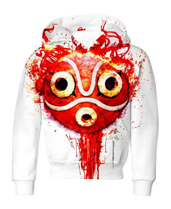 Studio Ghibli-Kid Hoodie-Shirt-Clothing-Jacket-Zip-Up-Forest Princess Mask-VIO STORE