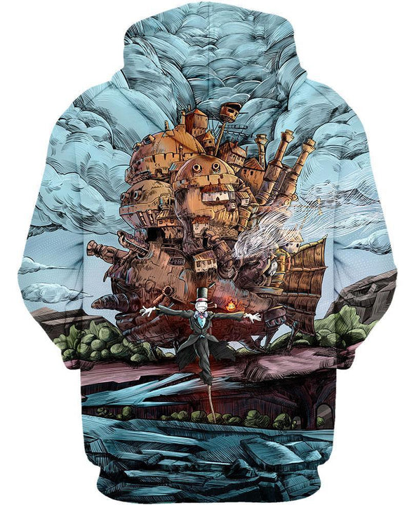 Studio Ghibli-Shirt-Clothing-Jacket-Zip-Up-Magical Castle-VIO STORE