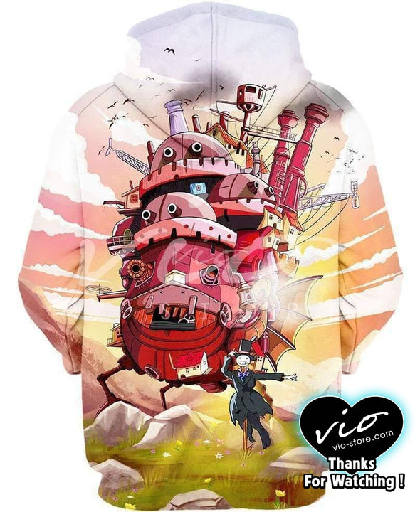 Studio Ghibli-Shirt-Clothing-Jacket-Zip-Up-Moving Castle-VIO STORE