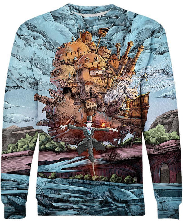 Studio Ghibli-Sweatshirt-Shirt-Clothing-Jacket-Zip-Up-Magical Castle-VIO STORE