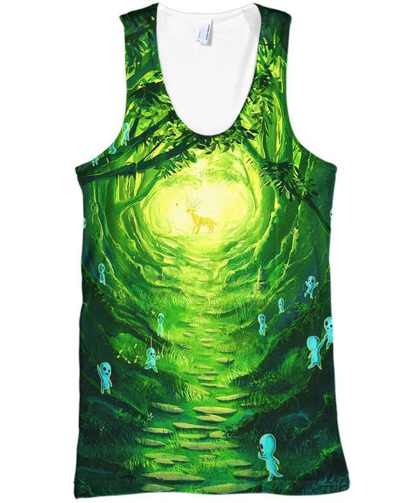 Studio Ghibli-Tank-Shirt-Clothing-Jacket-Zip-Up-Spirit Of The Forest-VIO STORE