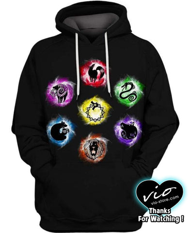 The Seven Deadly Sins-Hoodie-Shirt-Clothing-Jacket-Zip-Up-Holy Knights-VIO STORE