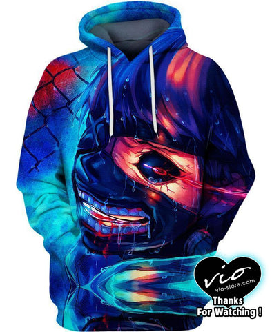 Tokyo Ghoul-Hoodie-Shirt-Clothing-Jacket-Zip-Up-Night Rain-VIO STORE