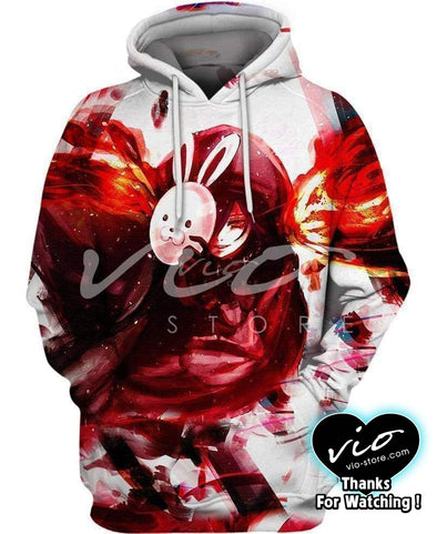 Tokyo Ghoul-Hoodie-Shirt-Clothing-Jacket-Zip-Up-Rabbit Mask-VIO STORE