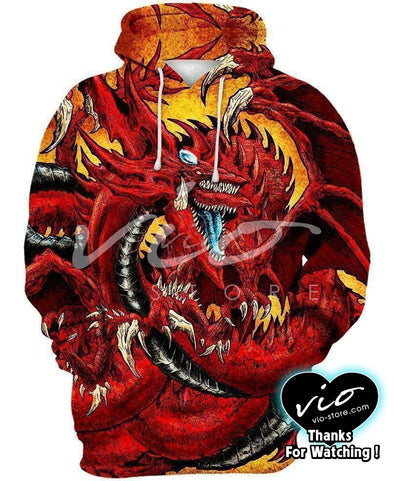 Yu-Gi-Oh-Hoodie-Shirt-Clothing-Jacket-Zip-Up-Slifer The Sky Dragon-VIO STORE