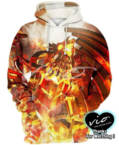 Yu-Gi-Oh-Hoodie-Shirt-Clothing-Jacket-Zip-Up-The Winged Dragon of Ra-VIO STORE