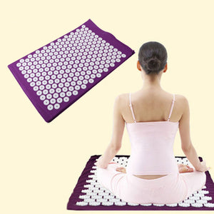 Massager pad Mattress Pain Relieve Acupressure Cushion Mat Relieves Stress, Back, and Sciatic Pain Massage - PranaYogaStore