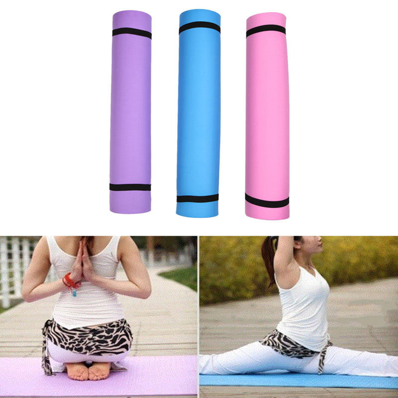 Pink Yoga Mat at best price - Thick  yoga mat, cheap , non slippery and durable - PranaYogaStore