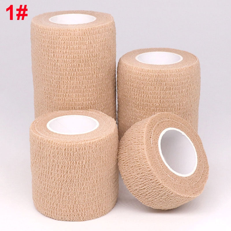 Colorful Self Adhesive Elastic Wrap Bandage Support Tape For Knee