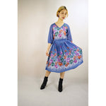 Mermaid Blue Flower Vintage Dress