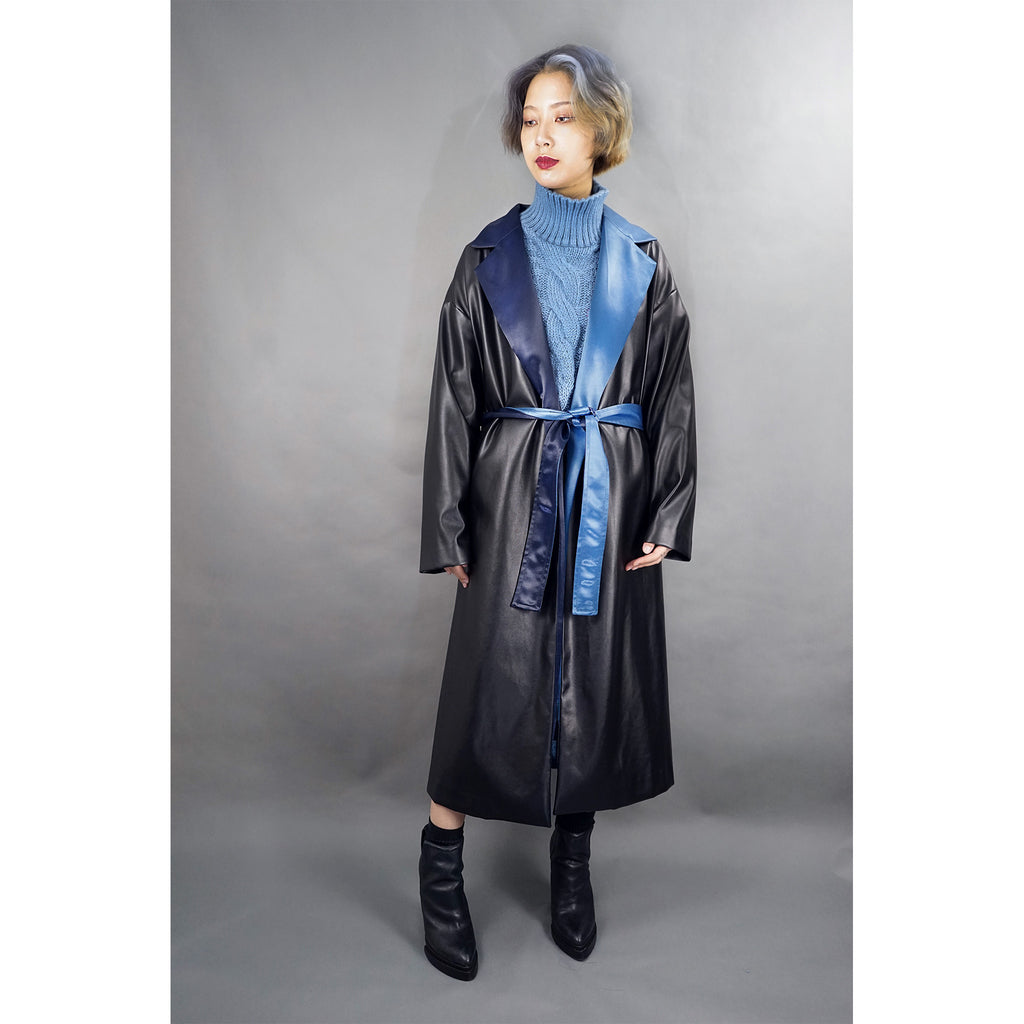 Killer Mode Faux Leather Coat