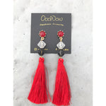 See It Red Tassel Earrings