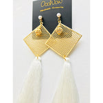 Let it Snow Tassel Earrings