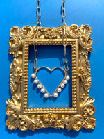 My Heart pearl necklace