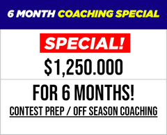 6 Month Coaching Special