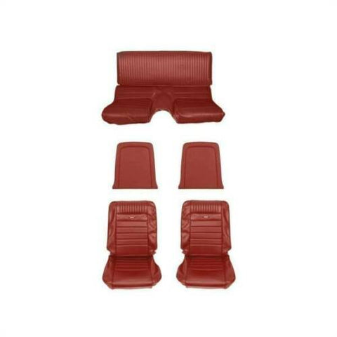 1964 1965 ford mustang fastback bright red pony upholstery kit