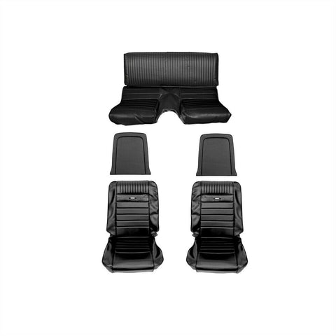 1965 1966 ford mustang fastback black pony complete seat upholstery kit