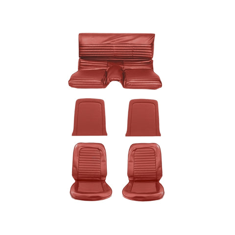 1964 1965 ford mustang fastback bright red standard upholstery kit