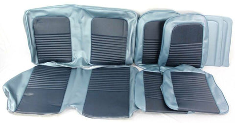 1967 mustang coupe standard blue upholstery kit new