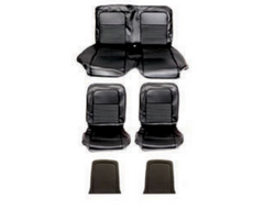 1967 ford mustang coupe black sports seats upholstery kit